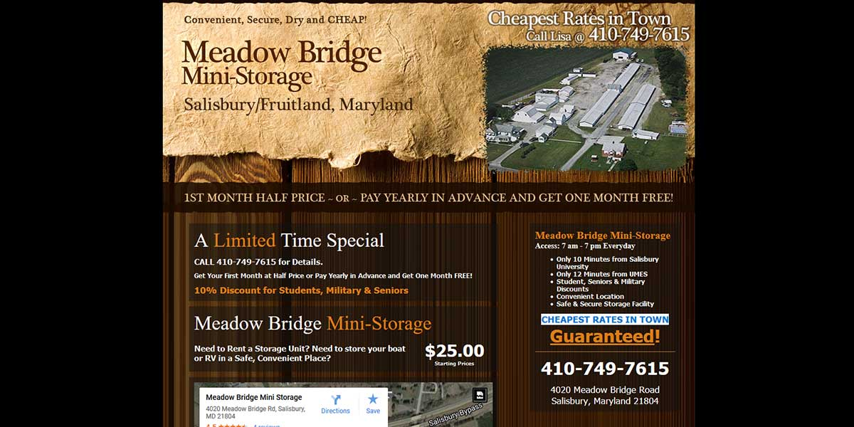 MeadowBridgeMiniStorage.com
